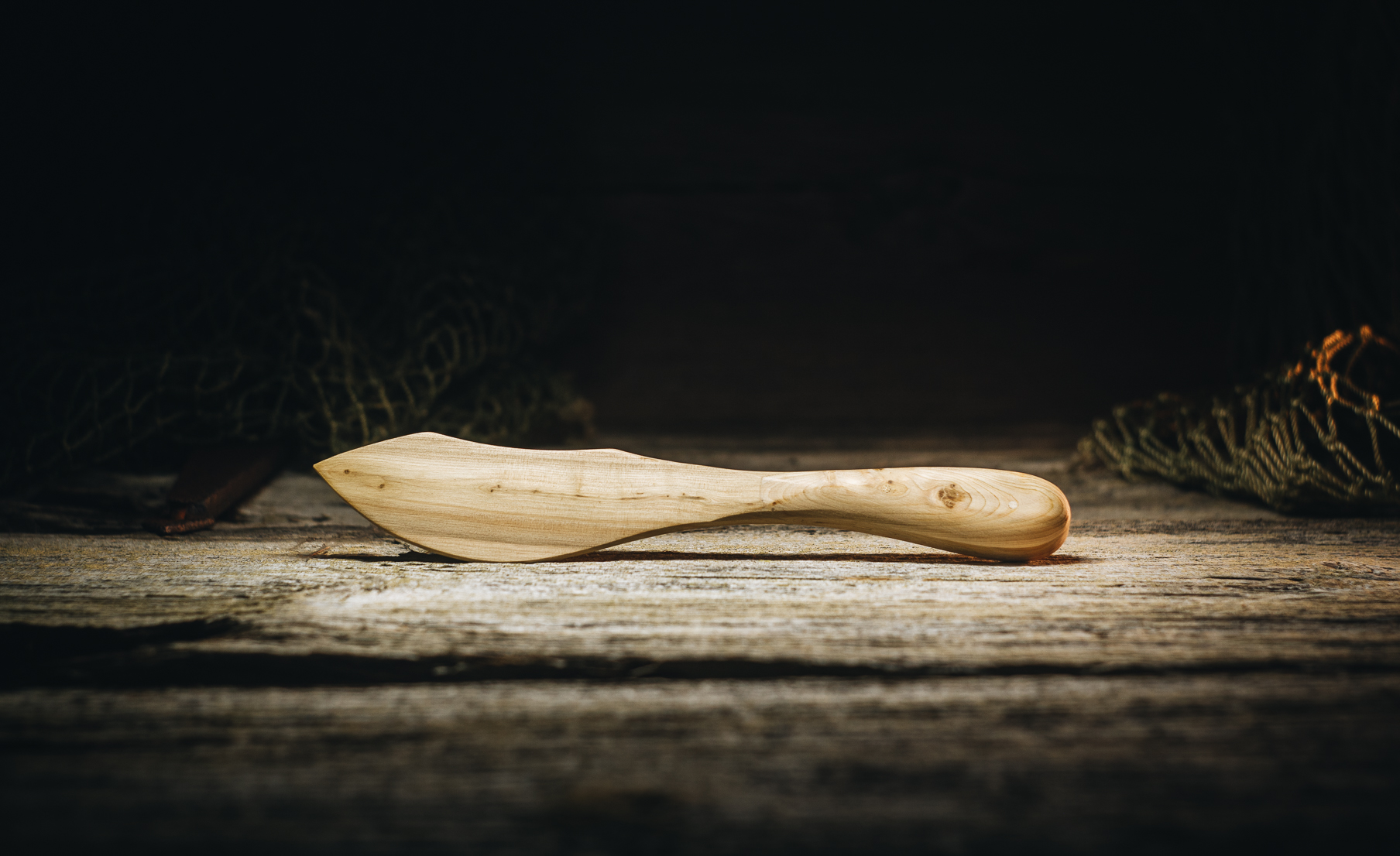 Butter knife wooden (juniper) 170 mm