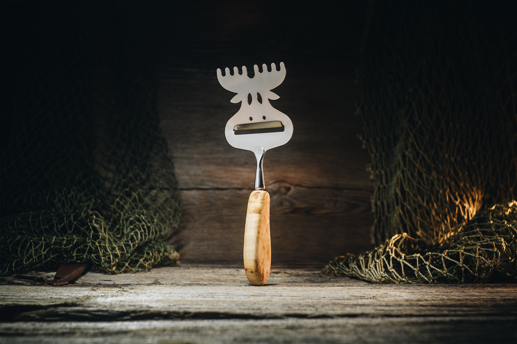 "Cheese slicer ""Elk"" (juniper)"