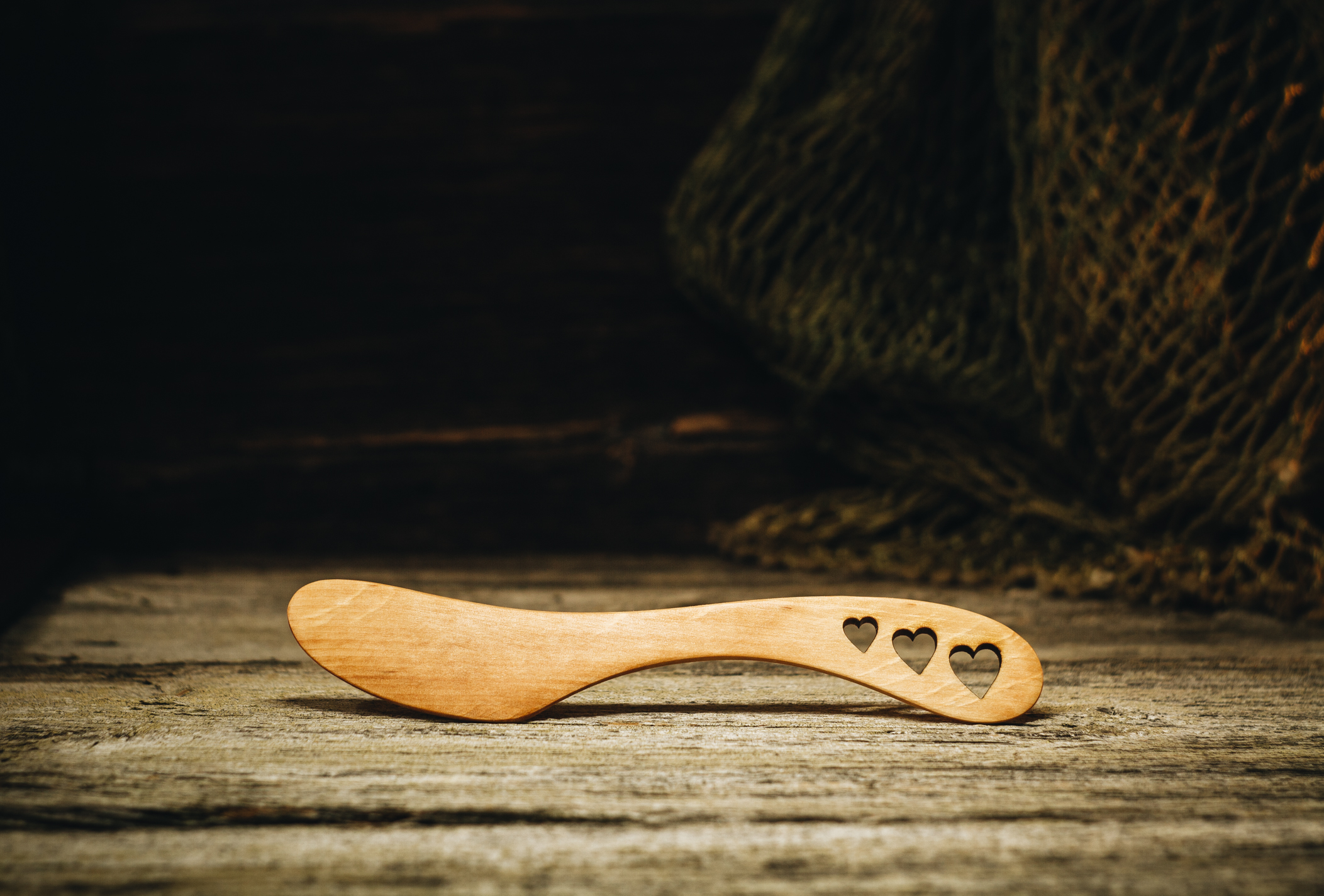 "Võinuga ""Kolm südant""(lepp) / Butter knife ""Three hearts""(alder)"