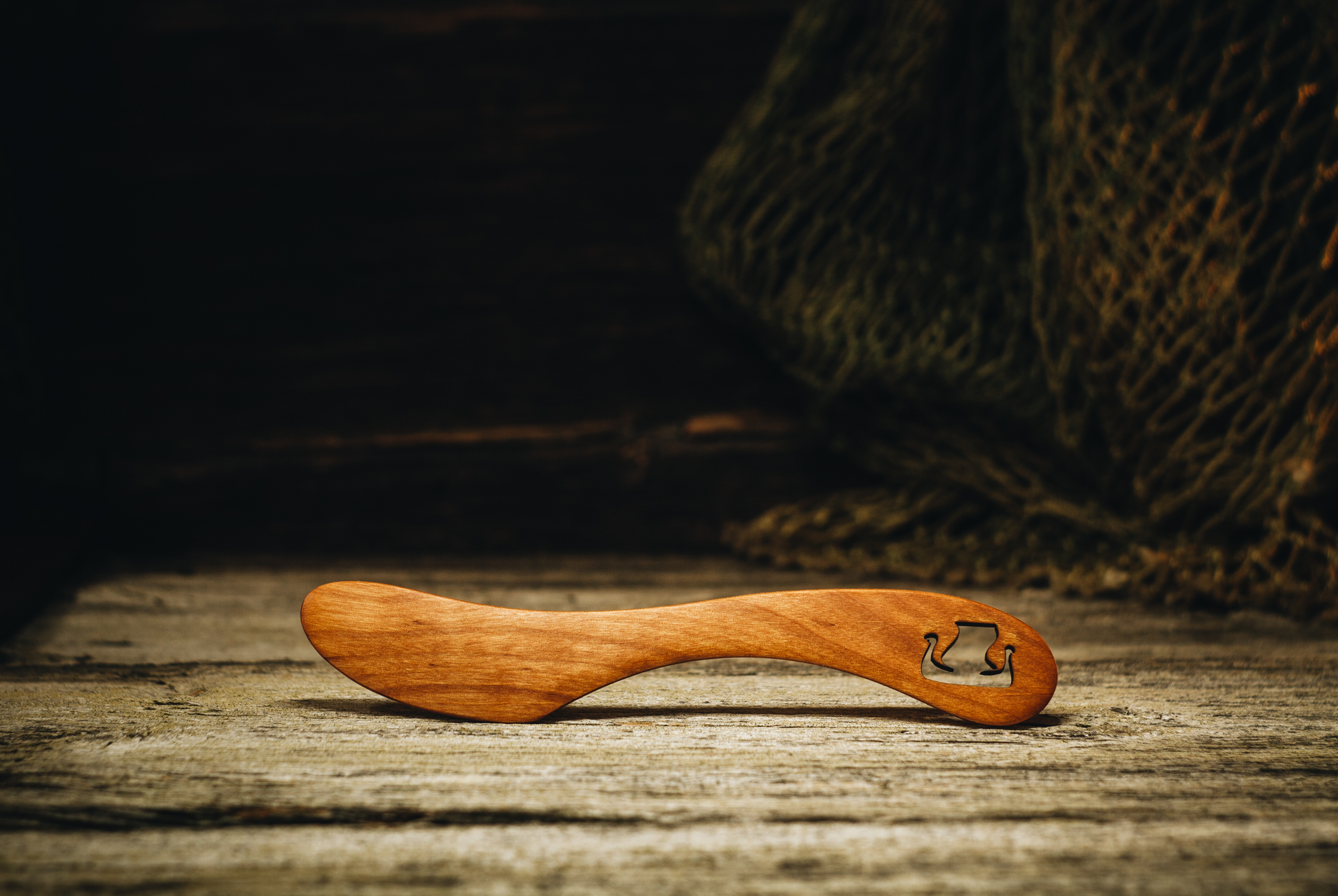 "Butter knife ""Ship""(alder)"